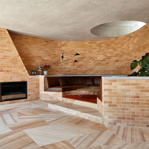 Wood Fired Cream Bricks used in a conversation pitt by Neeson Murcutt Architects