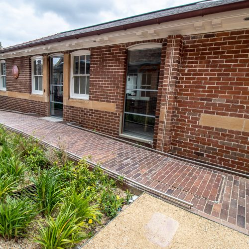 Lincoln Brickworks clay pavers used at Banga Community Shed