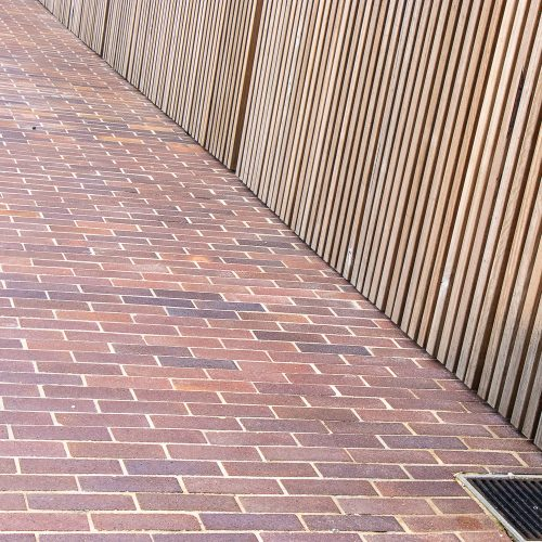 Lincoln Brickworks Blue Mottle Pavers used at Joynton Avenue Creative Centre