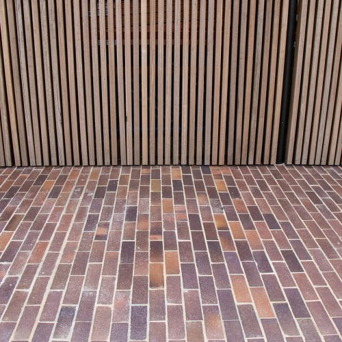 Lincoln Brickworks Blue Mottle Pavers used at the Joynton Avenue Creative Centre