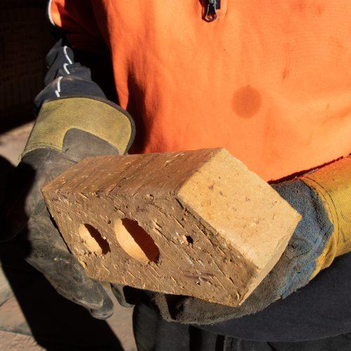 Hand made bricks from the kiln