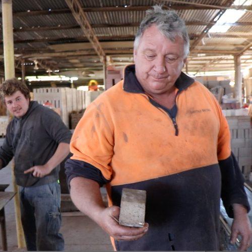 Lincoln Brickworks Team Hand Making Bricks