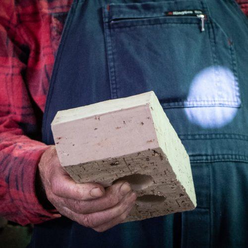 Custom shaped hand made bricks